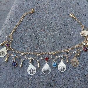 Gold ankle bracelet $30 Very nice!